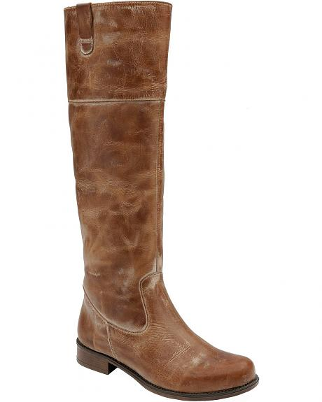 Corral Distressed Riding Boots - Round Toe
