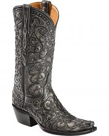 Lucchese Handcrafted 1883 Sierra Lasercut Inlay Cowgirl Boots