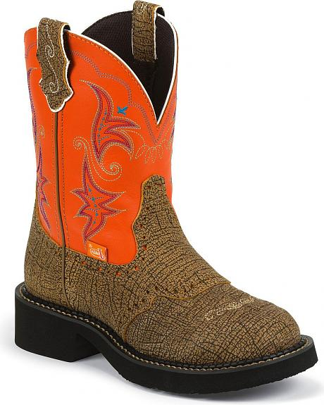 Justin Gypsy Distressed Cowgirl Boots - Round Toe