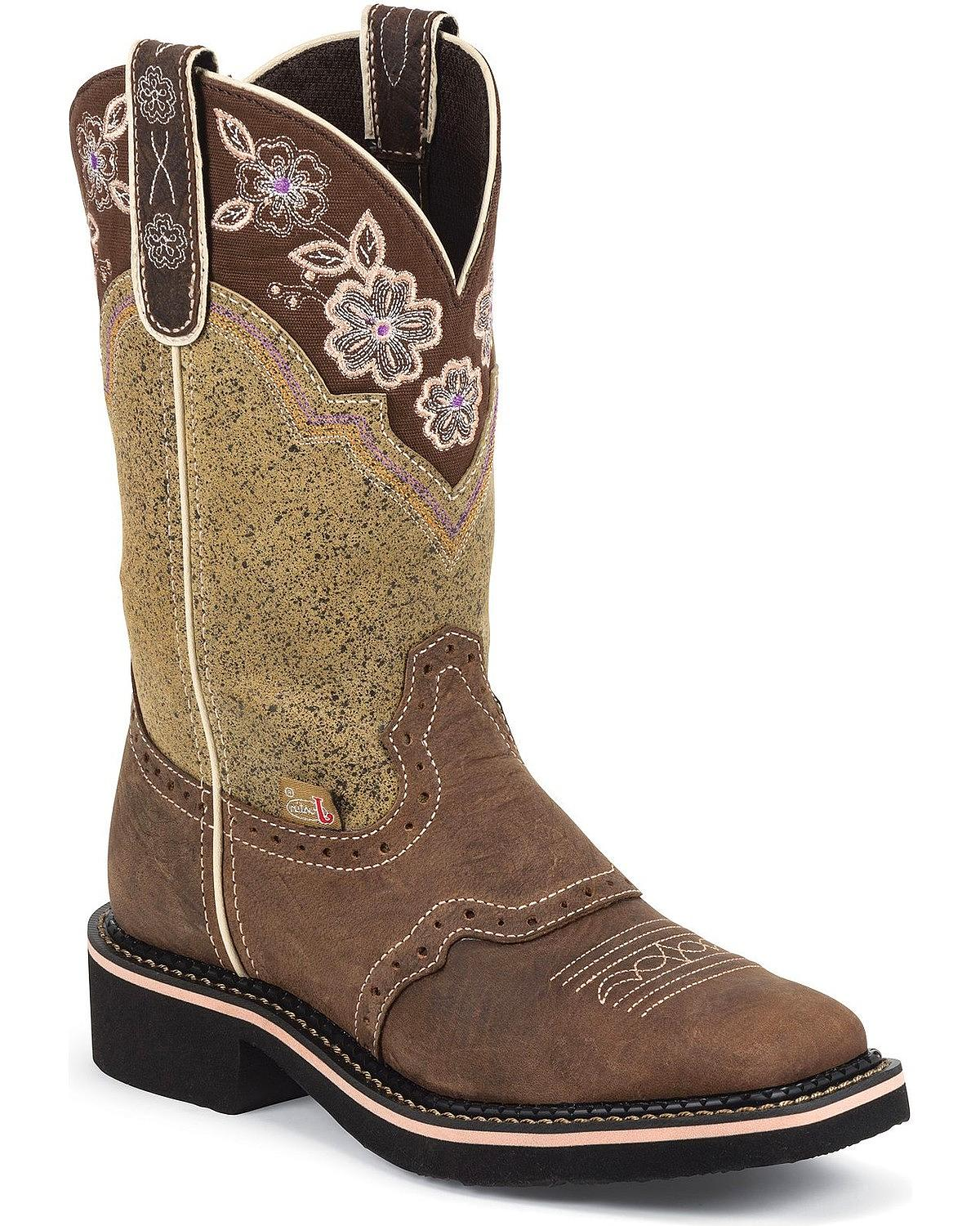 Original Book Of Justin Boots Womens Square Toe Gypsy In Singapore ...