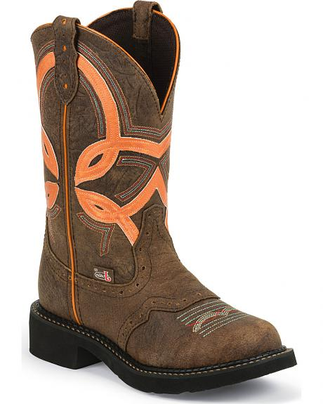 Justin Gypsy Bright Top Cowgirl Boots - Round Toe