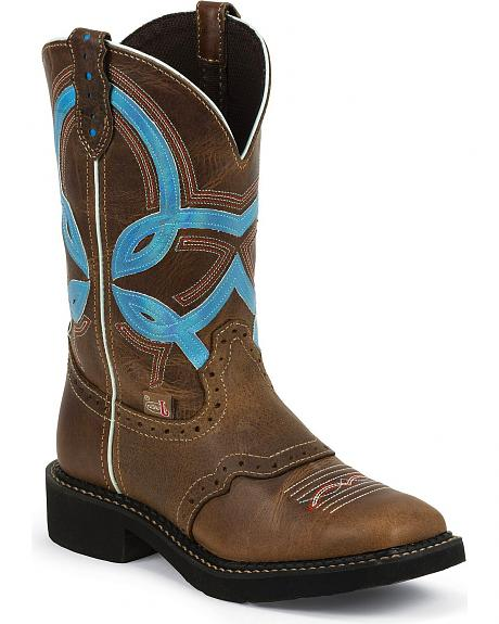 Justin Gypsy Bright Top Cowgirl Boots - Square Toe