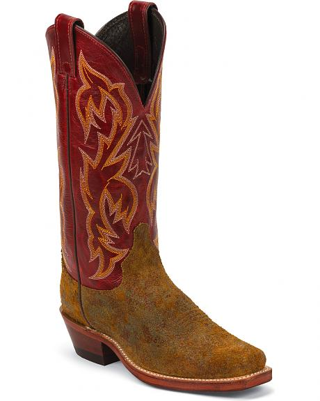 Justin Bent Rail Cowgirl Boots - Square Toe