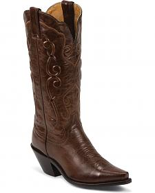 Justin Sophia Cowgirl Boots - Snip Toe