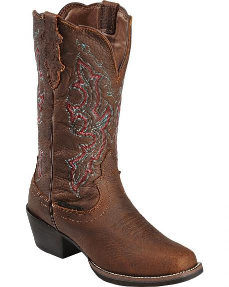 Justin Stampede Waterproof Cowgirl Boots - Square Toe