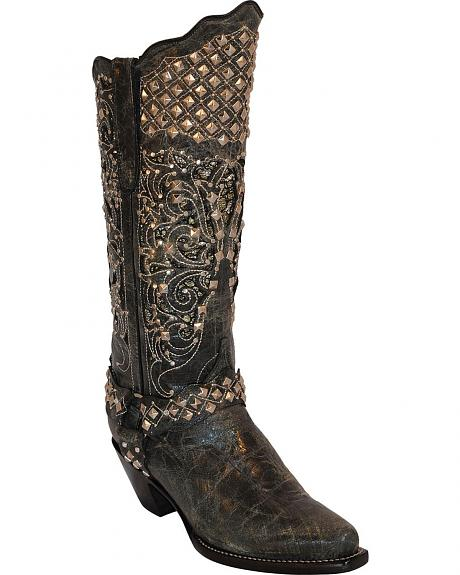 Ferrini Country Rebel Studded Cowgirl Boots - Snip Toe