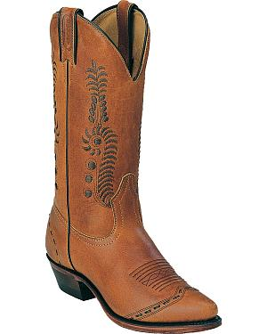 Boulet Leaf Cowgirl Boots - Pointed Toe