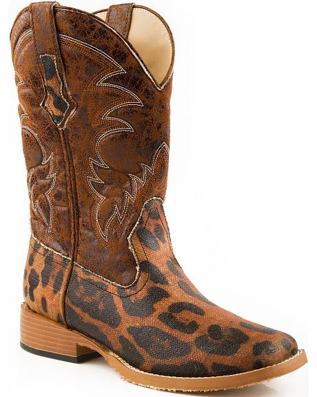 Roper Leopard Print Cowgirl Boots - Square Toe