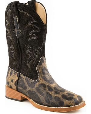 Roper Leopard Print Cowgirl Boots - Square Toe