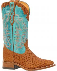 Boulet Puzzle Cowgirl Boots - Square Toe