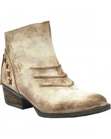 Circle G Burnished Taupe Short Boots - Round Toe