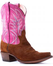 Lane Women's Pink Dirt Road Dreamer Western Boots - Snip Toe