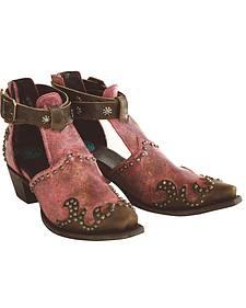 Lane Women's Mauve South of the Sabine Fashion Booties - Snip Toe