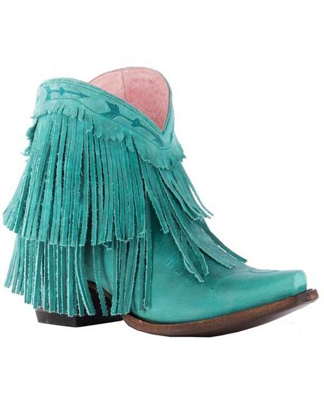 Junk Gypsy by Lane Women's Turquoise Spitfire Boots - Snip Toe