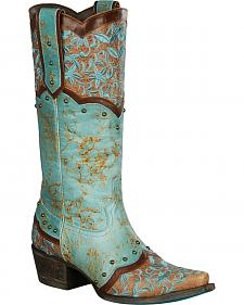 Lane Women's Turquoise Kimmie Boots - Snip Toe