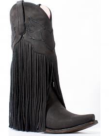 Junk Gypsy by Lane Women's Black Dreamer Boots - Snip Toe