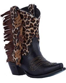 Lane Cheetah Olivia Cowgirl Boots - Snip Toe