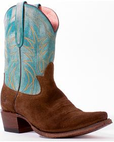 Lane Women's Turquoise Junk Gypsy Dirt Road Dreamer Boots - Snip Toe