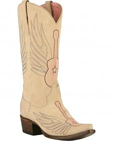 Lane Women's Cream Crossroads Western Boots - Snip Toe