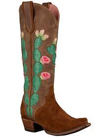 Lane Women's Brown Junk Gypsy Hard to Handle Western Boots - Snip Toe