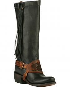 Junk Gypsy by Lane Women's Black Southbound Fringe Boots - Round Toe