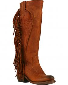 Junk Gypsy by Lane Chili Brown Texas Tumbleweed Boots - Round Toe