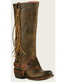 Lane Women's Brown Junk Gypsy Southbound Fringe Boots - Round Toe
