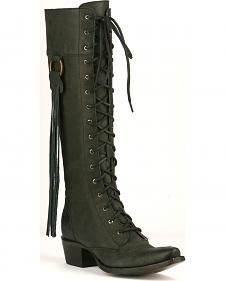 Junk Gypsy by Lane Black Trailblazer Lace-Up Boots - Snip Toe