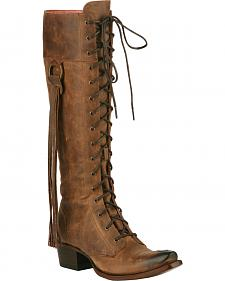Junk Gypsy by Lane Brown Trailblazer Lace-Up Boots - Snip Toe