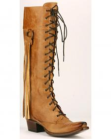 Junk Gypsy by Lane Women's Tan Trailblazer Lace-Up Boots - Snip Toe