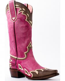 Junk Gypsy by Lane Women's Pink Back 40 Western Boots - Snip Toe