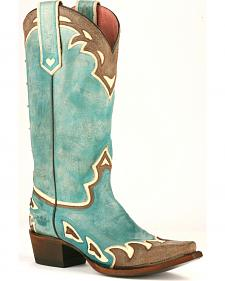 Junk Gypsy by Lane Women's Turquoise Back 40 Western Boots - Snip Toe