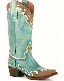 Junk Gypsy by Lane Women's Turquoise Back 40 Western Boots - Snip Toe
