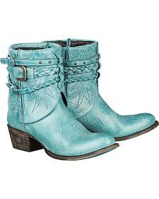 Lane Women's Turquoise Dove Boots - Round Toe