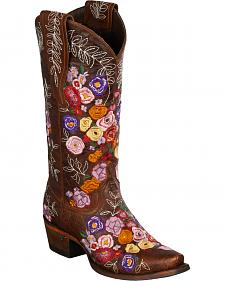 Lane Women's Brown Valentine Western Boots - Snip Toe