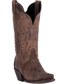 Dan Post Women's Talisman Teju Lizard Cowboy Boots - Snip Toe