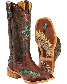Tin Haul Arrowhead Cowgirl Boots - Square Toe