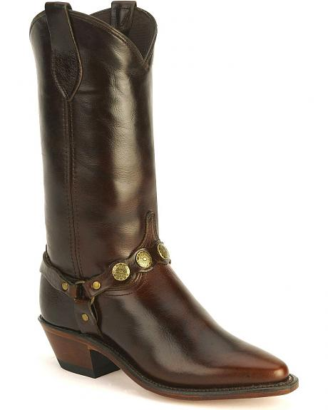 Abilene Concho Harness Cowboy Boots