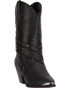 Dingo Black Jenny Cowgirl Boots - Round Toe