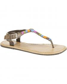 Roper Women's Color Crystal Flat Sandals