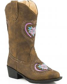 Roper Toddler Girls' Glittery Western Boots - Round Toe