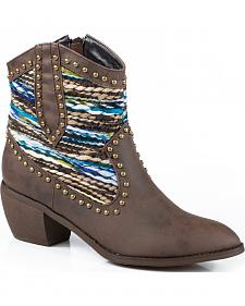Roper Sweater Short Cowgirl Boots - Round Toe