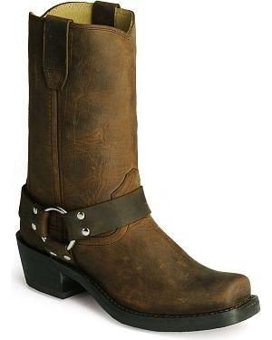 Durango Womens Harness Cowgirl Boots - Square Toe
