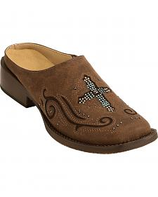 Roper Women's Vintage Brown Cross Mules