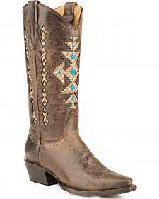 Roper Native Inlay Cowgirl Boots - Snip Toe