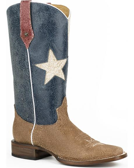 Roper Vintage Texas Flag Cowgirl Boots - Square Toe