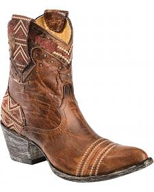 Old Gringo Yippee Ki Yay Alexa Aztec Embroidered Short Cowgirl Boots