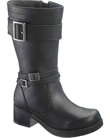 Harley Davidson Emely Motorcycle Boots - Round Toe