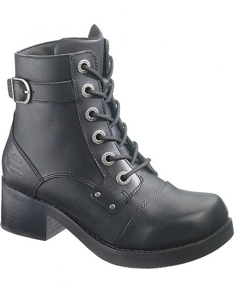 Harley Davidson Evie Motorcycle Boots - Round Toe