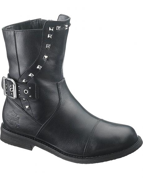Harley Davidson Riley Motorcycle Boots - Round Toe